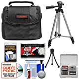 Canon PowerShot Digital Cameras Accessory Kit with Camera Case & Tripod for A490, A495, A3000 IS, A3100 IS, SD1300 IS, SD1400 IS, SD3500 IS, SX130 IS, SX210 IS, SX30 IS, G10, G11, G12, S90 & S95
