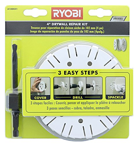 Ryobi A10DK41 Drywall Repair Kit with Hole Saw and Hex Shank Drill Bit (Covered Shank)