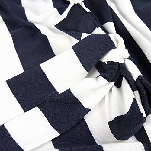 PALINDA Womens Striped Elegant Short Sleeve Wear to Work Casual Pencil Dress with Belt
