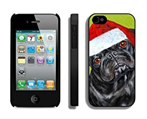 Featured Desin Christmas Dog Black iPhone 4 4S Case 1