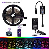 LED Strip Lights, Echo Alexa Control RGB Light Strips – 16.4ft 150LED 5050 12V-24V WiFi Wireless Light Strip, Smart Home Voice Magic Lights Kit Working with Android/iOS System Review