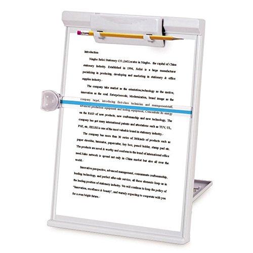 MyLifeUNIT Document Copy Holder, Copy Holder Stand, Adjustable, Gray (Document Adjustable Holder)