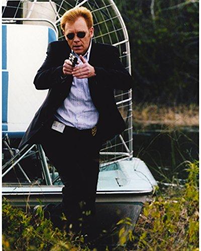 David Caruso Holding In Black Coat - 8