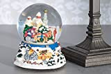 Winter Sleigh Ride 100MM Music Water Globe Plays Tune Have Yourself A Merry Little Christmas