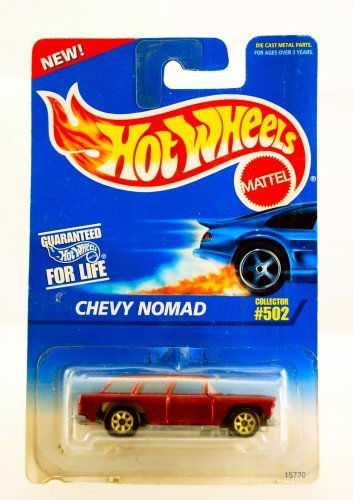 Hot Wheels - 1995 - Chevy Nomad - Metallic Red - Collector #502 - Die Cast - Limited Edition - Collectible 1:64 Scale