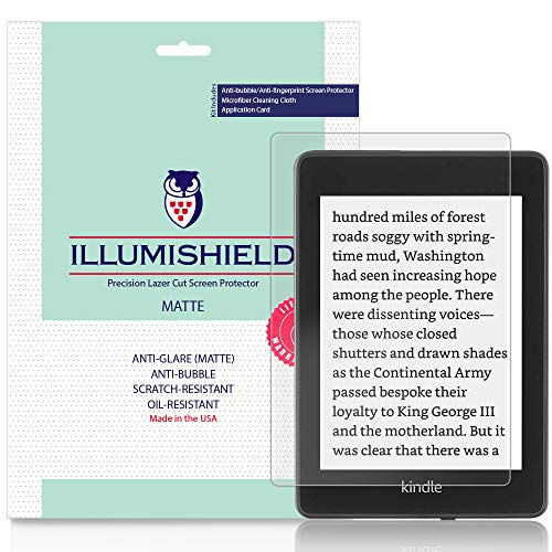 iLLumiShield Matte Screen Protector Compatible with Amazon Kindle Paperwhite (2018, 6 inch)(3-Pack) Anti-Glare Shield Anti-Bubble and Anti-Fingerprint PET Film