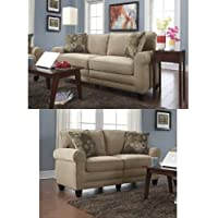 Serta RTA Copenhagen Collection 78 Sofa in Marzipan & Serta RTA Copenhagen Collection 61 Loveseat in Marzipan