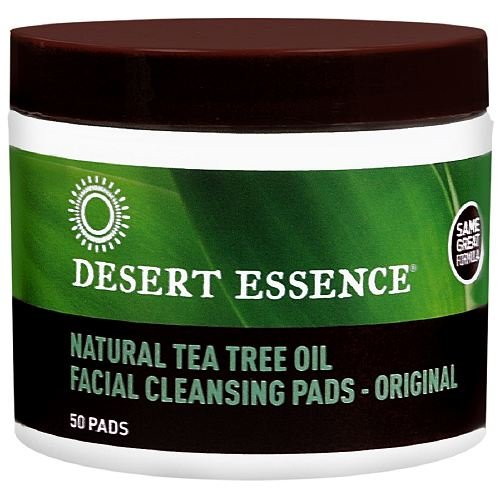 - Desert Essence Tea Tree Oil Facial Cleansing Pads 50 ea (Pack of 3)
