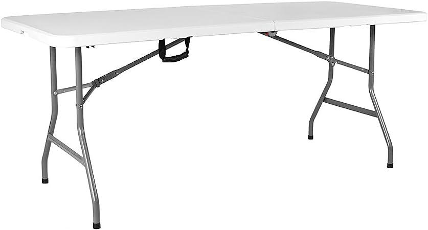 Home Vida Heavy Duty Trestle Picnic Folding Table Silver 5 Feet Amazon Co Uk Garden Outdoors