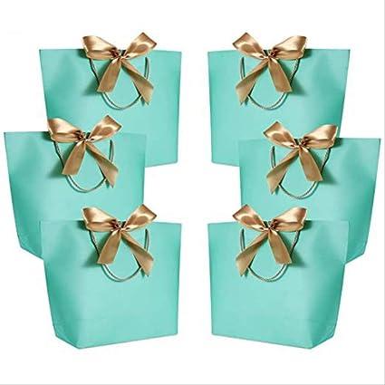 PMWLKJ 10pc Caja de regalo grande Embalaje Mango dorado Bolsa de ...