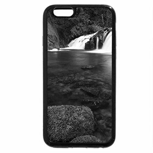 iPhone 6S Case, iPhone 6 Case (Black & White) - East Fork Falls, Coquille River, Oregon