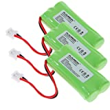 Floureon 3-Packs Replacement Cordless Phone Batteries for V-Tech series, Office Central