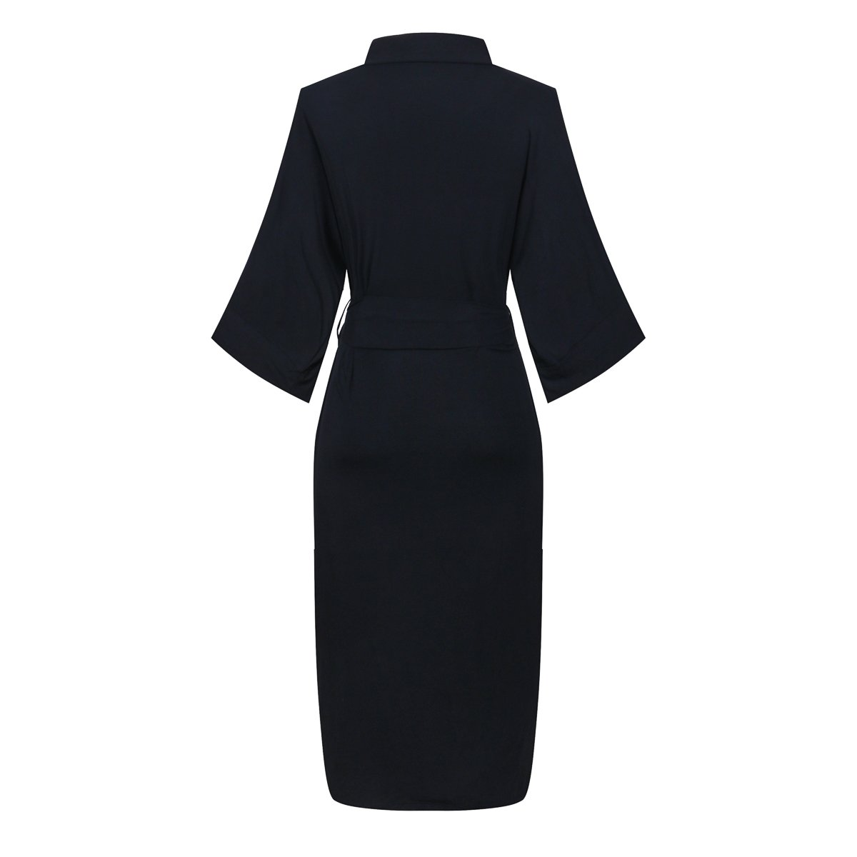 c47f46b23d Amazon.com  DandyChic Women s Knit Long Kimono Robe Bathrobe Nightgown  Pure  Clothing