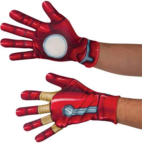 [Marvel Men's Captain America: Civil War Iron Man Gloves, Multi, One Size] (Black Widow Halloween Costume Iron Man 2)