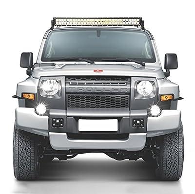 Mindkoo LED Work Light Bar Combo Beam Driving Lamp For ATV 4x4 Jeep Marine Truck SUV Pickup Wagon 4WD Car Cab Boat Bus High Intensity Radius Auxiliary Fog Driving Lamp