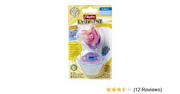 Playtex Playtex OrthoPro Silicone Newborn Pacifier with Sterilizing Cover, 2ct (Discontinued by Manufacturer)