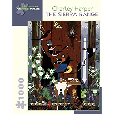 Charley Harper: The Sierra Range 1,000-piece Jigsaw Puzzle: Pomegranate Communications, Inc.: Toys & Games
