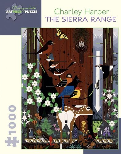 Pomegranate Type - Charley Harper: The Sierra Range 1,000-piece Jigsaw Puzzle