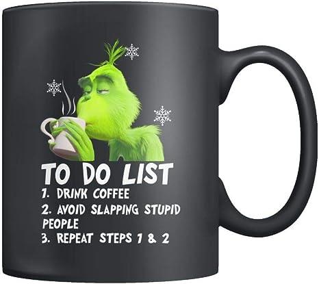Black Mug The Grinch Mug Six Feet People Mug Christmas Mug