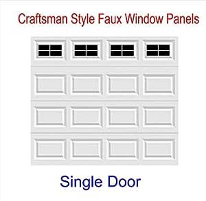 Craftsman style vinyl garage door decal kit for Garage door style kitchen window
