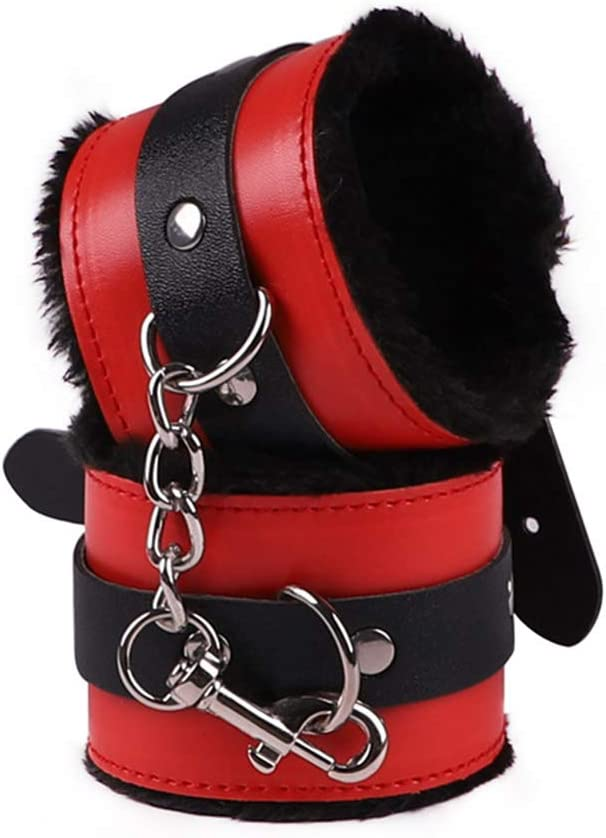 CUGHD Sixy Leather Suit Set Alternative Game Products Bondage Sixy Plush Eight-Piece Handcuff