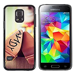 FlareStar Colour Printing Andy Toy Shoe Blurry Movie 3D Kids cáscara Funda Case Caso de plástico para Samsung Galaxy S5 Mini / Galaxy S5 Mini Duos / SM-G800 !!!NOT S5 REGULAR!