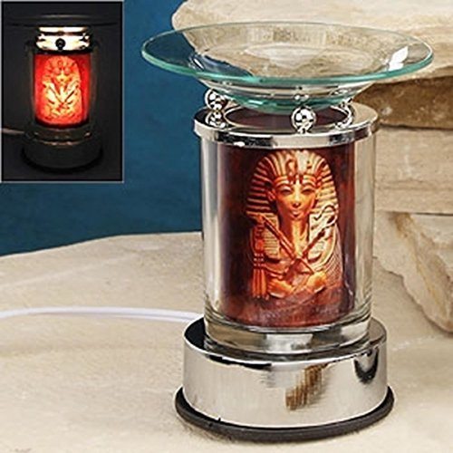 Artico SS-A-59706 Electric Oil Burner with Sarcophagus, Silver (Ankh Oil)