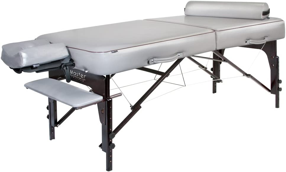 Master Massage 30 Montour Lx Massage Table Package with 3 Memory Foam,Dove Grey