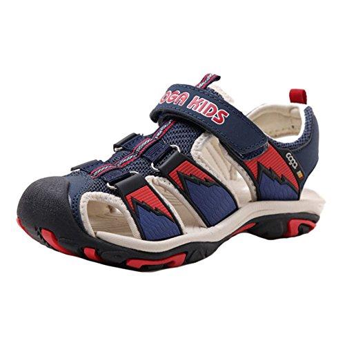 Juleya Verano al aire libre Velcro Sandalias Cerrado Toe plana zapatos de playa para los chicos unisex t0ZsSwd