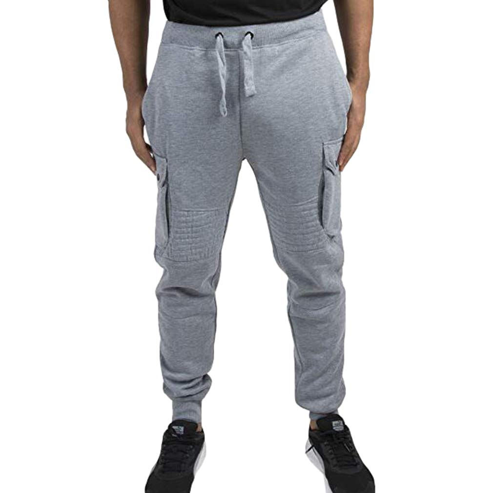 Hombres Gym Sport Sport Pants Fitness Workout Running Pantalones Elasticated Stretch Waist Band Sweatpant Cargo Pantalones S-3XL