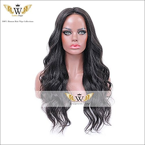 6A 130Density Black Curly Human Hair Lace Front Wigs With Baby Hair Glueless Wave Full Lace Wigs For Black Woman (22Inch Full Lace) by Goddess