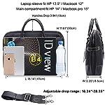 Banuce Slim Nylon Briefcase for Men and Women Business Tote 14″ Laptop Attache Messenger Bag Black