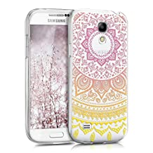 kwmobile Crystal TPU Silicone Case for Samsung Galaxy S4 Mini in Design Indian sun yellow dark pink transparent