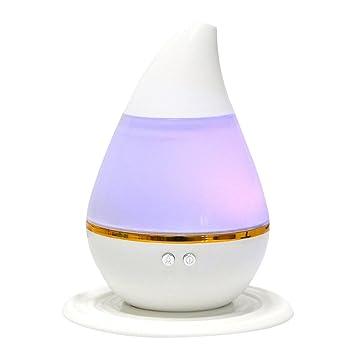 Schwarz Luftbefeuchter USB Aroma Diffuser Aromatherapie 7 Farbe LED Nachtlampe