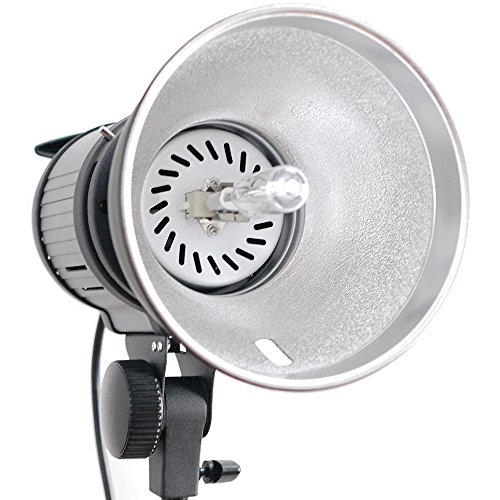 Julius Studio 7 Inch Photography Continuous Light Head with Beauty Dish Reflector and 1000 W-120 V Light Bulb, Dimmable Photo/Video Studio Lighting Kit PR17_AM1 by Julius Studio