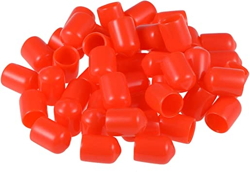 Sourcing Map 50pcs Rubber End Caps 9mm Id Vinyl Round Tube Bolt Cap Cover Thread Protectors Red Amazon Co Uk Diy Tools