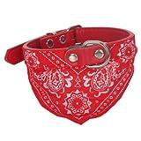 Adjustable Elegant Pet Dog Cat Grooming Triangle Bandana Neck Scarf Collar Neckerchief Red, My Pet Supplies