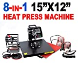 New MTN Gearsmith 15x12 Professional 8 in 1 Multifunction Sublimation Heat Press Machine