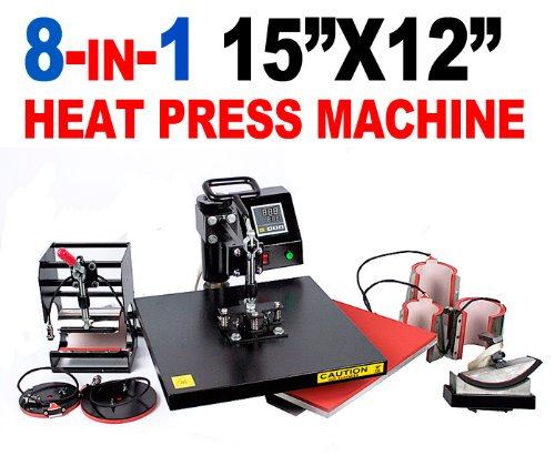 New MTN Gearsmith 15x12 Professional 8 in 1 Multifunction Sublimation Heat Press Machine by MTN Gearsmith