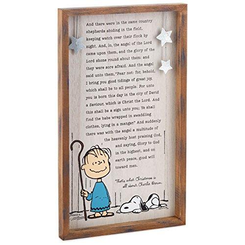 Hallmark Peanuts Linus' Christmas Speech Wood Sign Art Religious