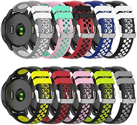 ZSZCXD Compatible for Garmin Vivoactive 4 Band 22mm Width Silicone Replacement WatchBand Strap Band Wristband for Garmin Vivoactive 4