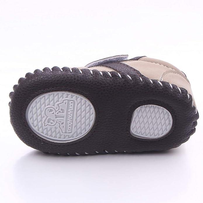 493de05b17671 Nagodu Shoes Zapato para Bebe niño Tipo Tenis Cafe con Velcro Doble cocido