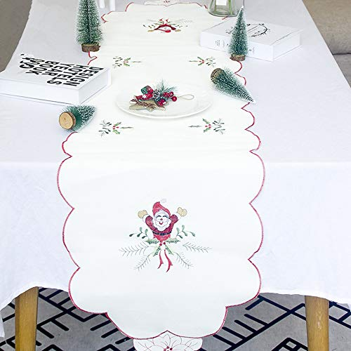 - NEARTIME Christmas Embroidery Fabric Table Flag Tablecloths Party Creative Decoration