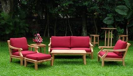 Amazon.com: giva Lujoso 6 piezas madera de teca Conjunto de ...