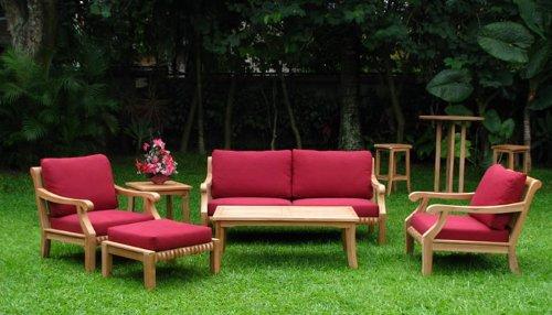New Luxurious 6 Piece Teak Sofa Set - Sofa, 2 Lounge Chairs,