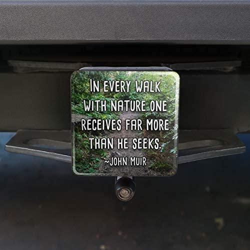 Graphics and More in Every Walk with Nature John Muir Oval Tow Trailer Hitch Cover Plug Insert