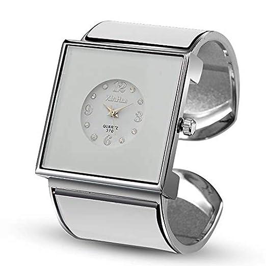 Hermosos Relojes 2017 Moda Reloj Reloj Reloj de Oro de Acero Correa: Amazon.es: Relojes