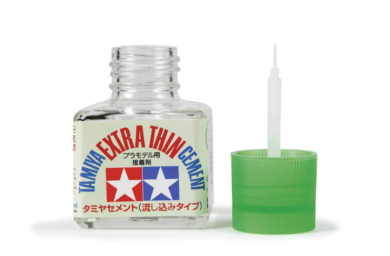 Tamiya 87038 - Pegamento Extra líquido Con Pincel Aplicador, Frasco, 40ml product image