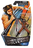 X-Men Origins Wolverine Comic Series 4 Inch Tall Action Figure - WOLVERINE in Brown Suit with Red Samurai Sword