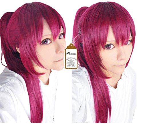 Anogol Hair Cap Free Gou Matsuoka Long Purple Cosplay Wig Costume